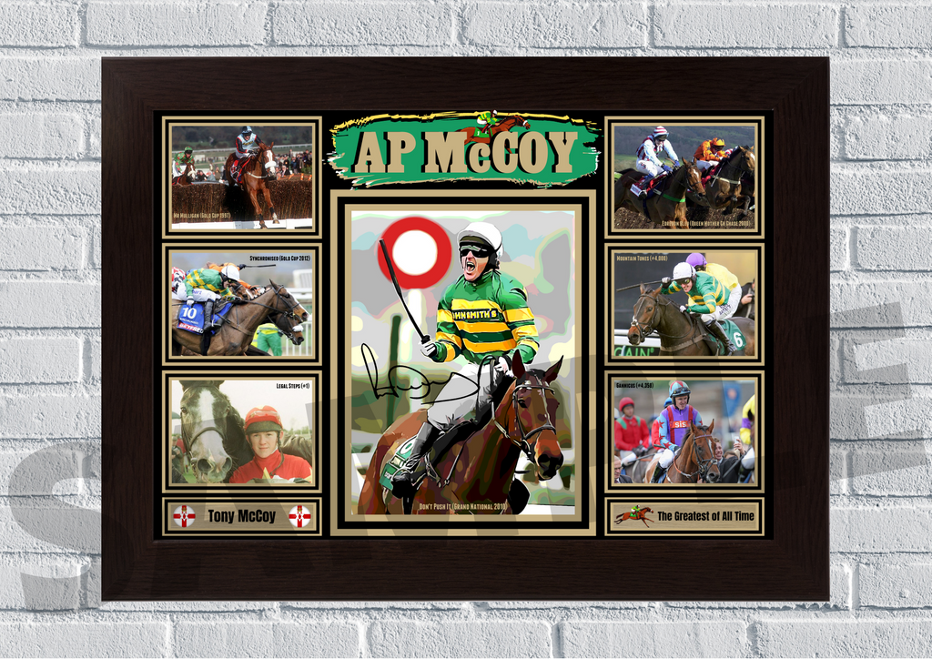 AP McCoy Horse Racing memorabilia  #116 signed reprint
