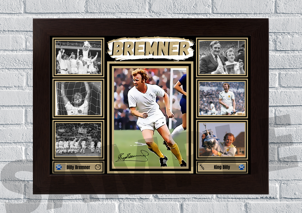 Billy Bremner Leeds United memorabilia - Signed print 3
