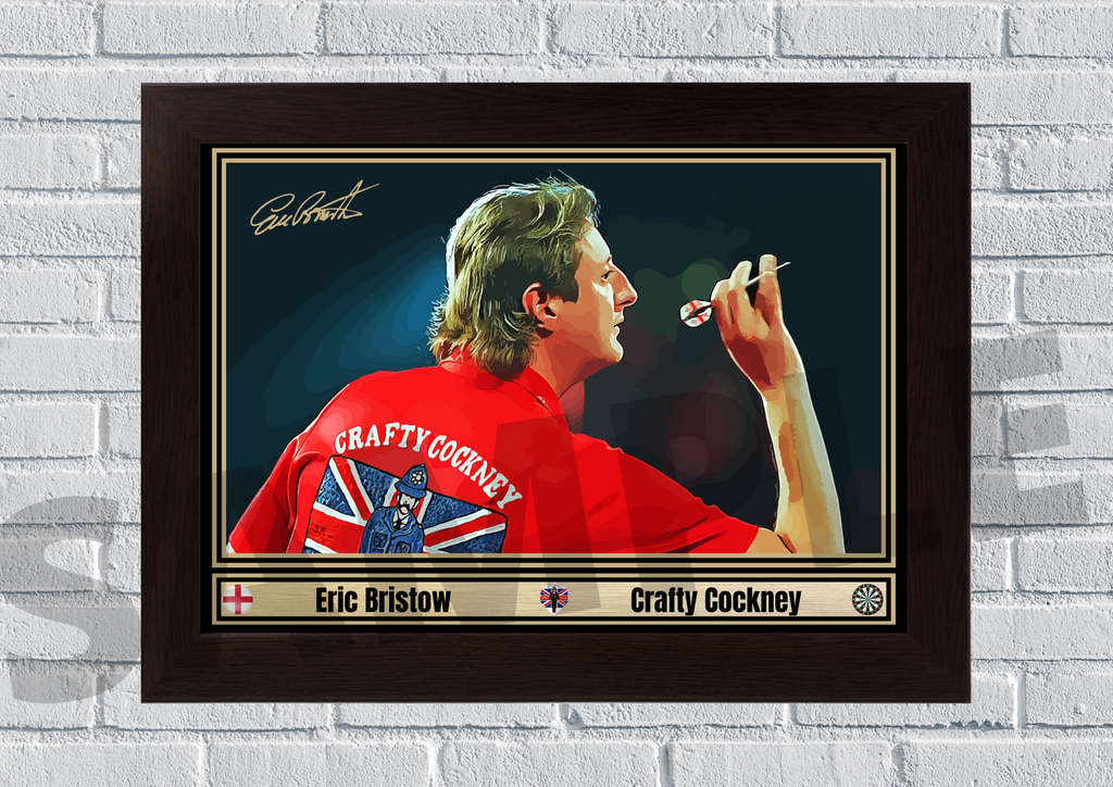 Eric Bristow The crafty cockney (Darts) #97 - Signed print