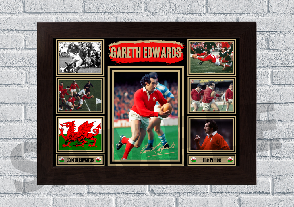 Gareth Edwards (Rugby) #90 - Signed print