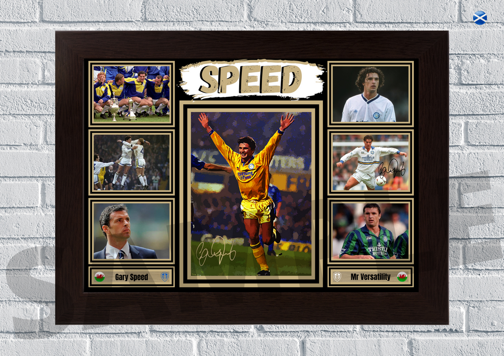 Gary Speed - Leeds United legend signed print #102