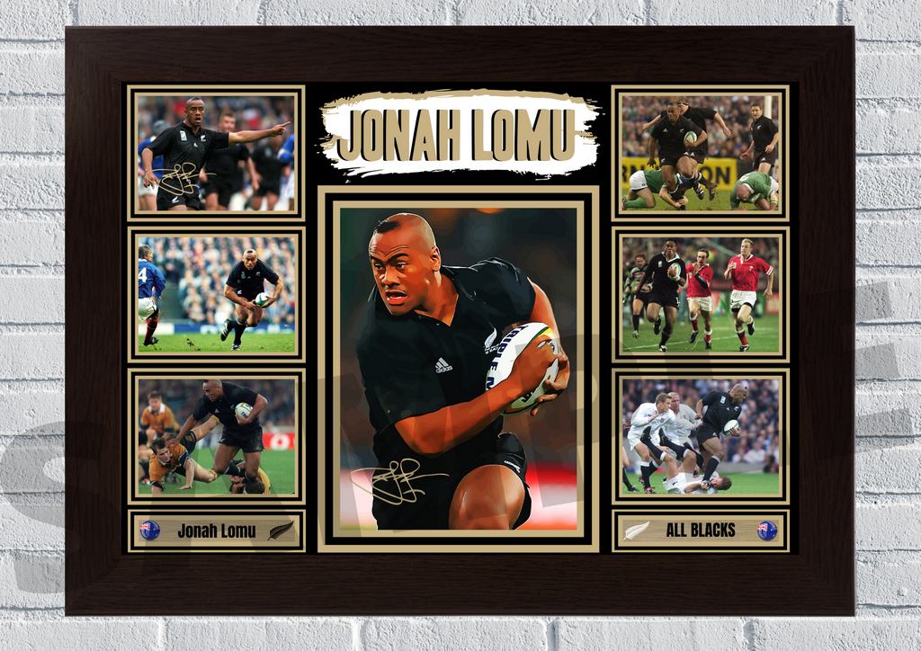 Jonah Lomu New Zealand All Blacks (Rugby) #106 - Signed print