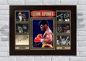 Leon Spinks (Boxing) #64 - Signed print