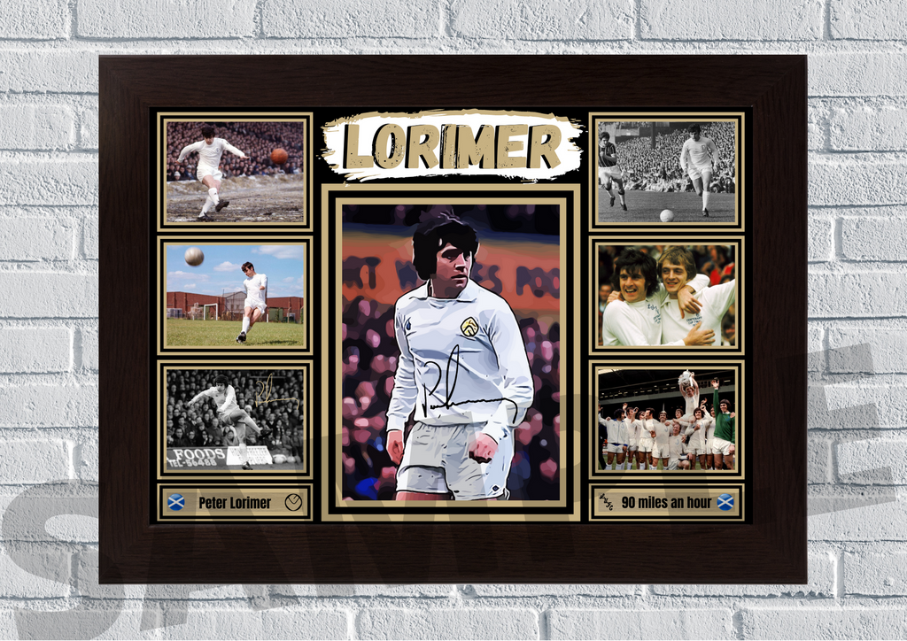 Peter Lorimer - Leeds United legend signed print #100