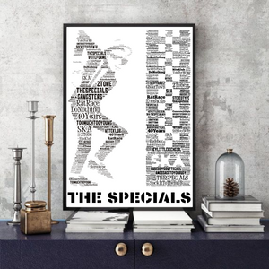 The Specials/Rudeboy/Ska/Mods - Word Art Portrait