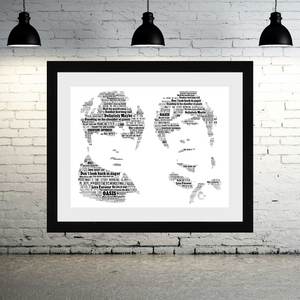 Oasis 2000's tribute - Word Art Portrait / Collectable/Memorabilia/Gift/Print