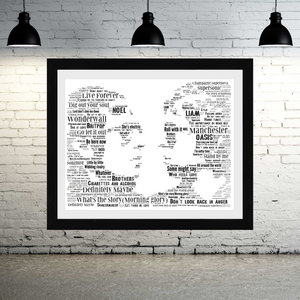 Oasis 90's tribute - Word Art Portrait