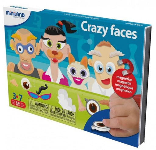 On the go magnetisch taal spel: crazy faces