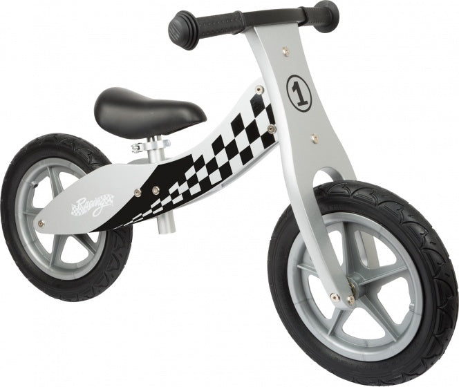 Race loopfiets 12 Inch Junior Wit/Zwart