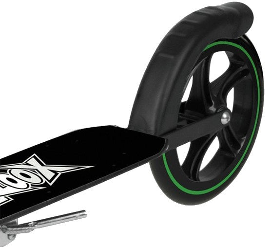 Xoo Large Wheeled stuntstep Junior Voetrem Wit/Zwart