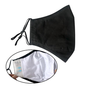 Black | Reusable & Adjustable Face Mask | 5 PACK | Includes 5 Filters