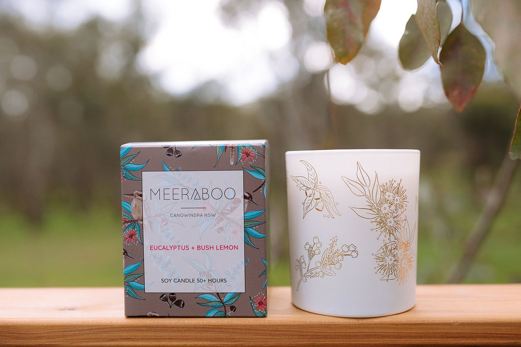 Meeraboo Candle - Eucalyptus & Bush Lemon Large