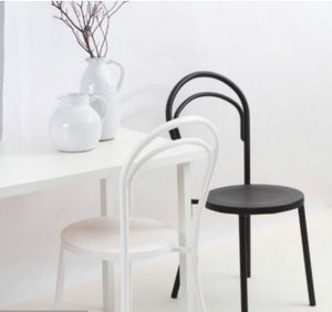 Metal Bentwood Chair - Black