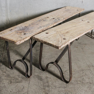 Vintage Bench with Iron Legs