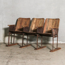 Load image into Gallery viewer, Vintage Indian 3 Chair Cinema Bench