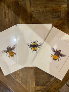 Bumble Blossom Bee Art Print