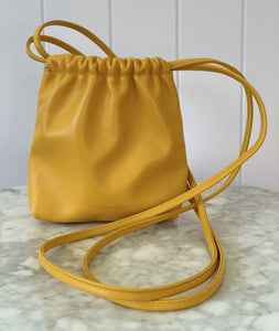 Soleil Nappa Leather Cross Body Drawstring