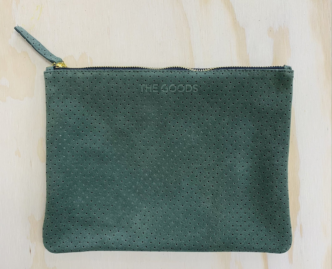 Moss 3/4 Suede Perforated Clutch
