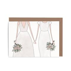 Wedding Woman and Woman Card