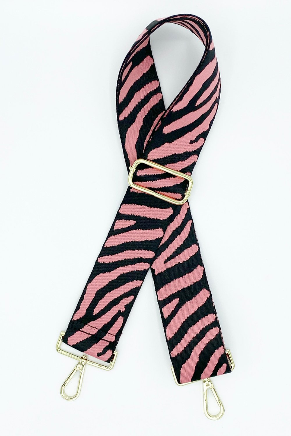 Black & Pink Zebra Bag Strap