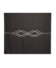 Load image into Gallery viewer, Pony Rider Dawn Ranger Cotton Blanket Super King Black/Oats