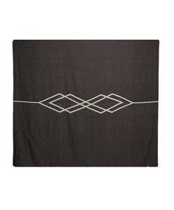 Pony Rider Dawn Ranger Cotton Blanket Super King Black/Oats