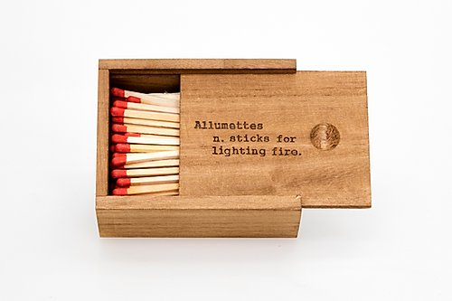 Matches - Timber Box