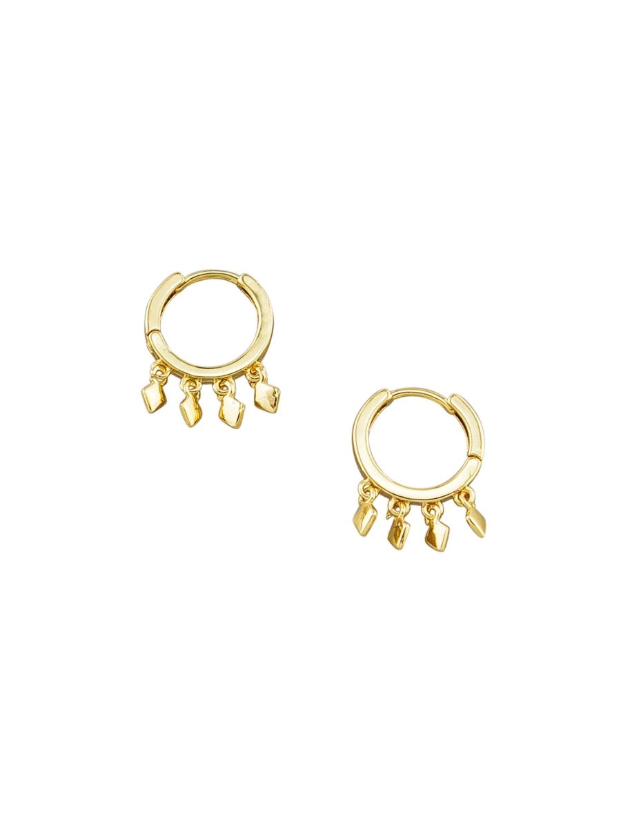 Gold Matahari Mini Huggies Earrings