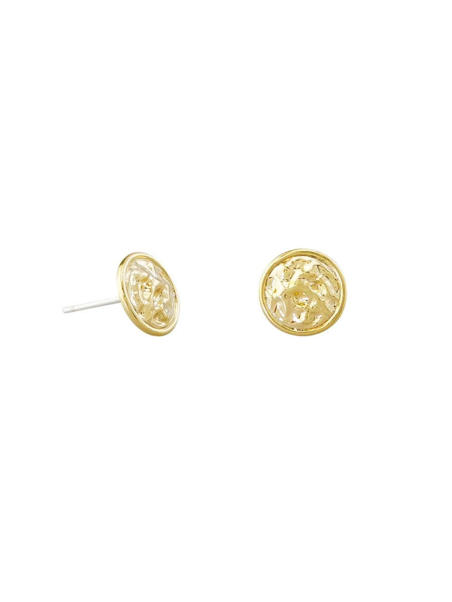 Gold Venus Stud Earrings