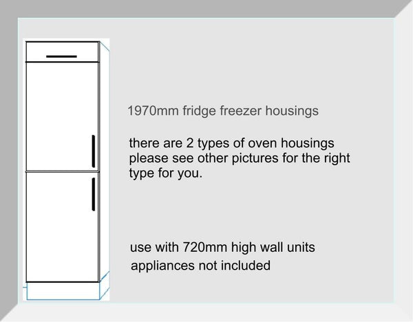 Fridge Freezer  Housing Units 1970mm high Mayfair Mussell Kitchen