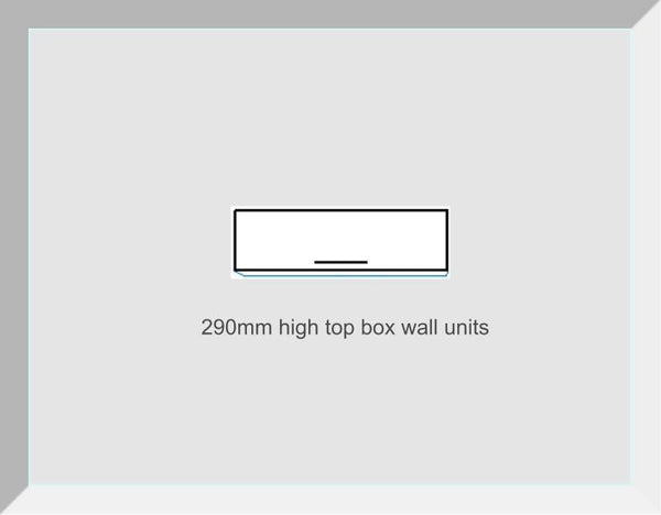 290mm High Top Box Wall Units Buckingham Mussel