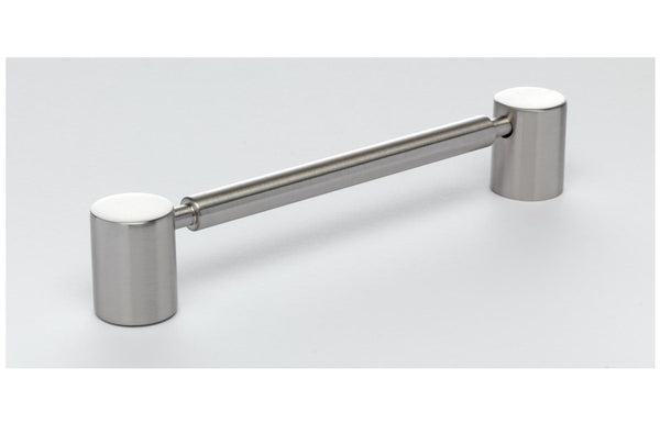 160mm Rod Brushed Nickel Handle