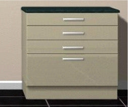 Drawer packs 4 Drawers 3 x 140mm 1 x 283mm  Keld Cream Gloss