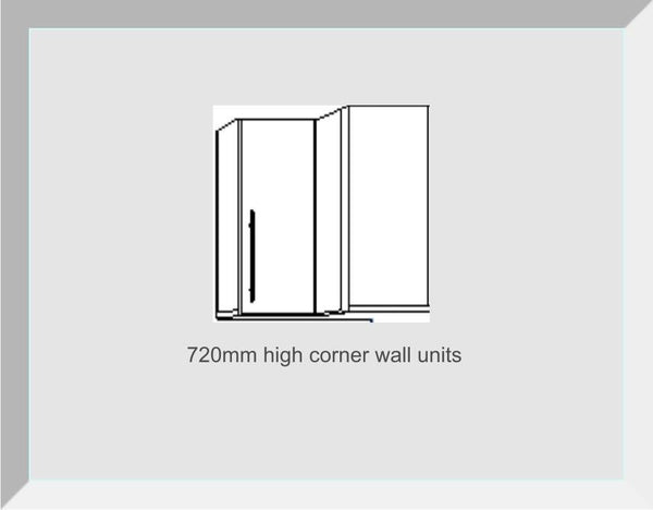 720mm High Single Corner Wall Units Buckingham Dakar