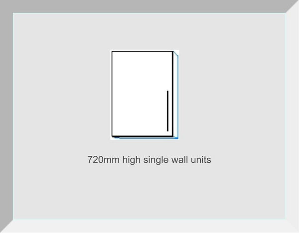 720mm High Single Wall Units Lucerne Ivory Handleless