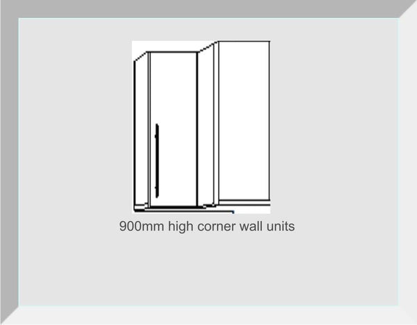 900mm High Single Corner Wall Units Buckingham Dakar