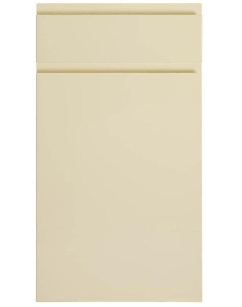 575mm High Single Corner Wall Units Lucerne Ivory Handleless