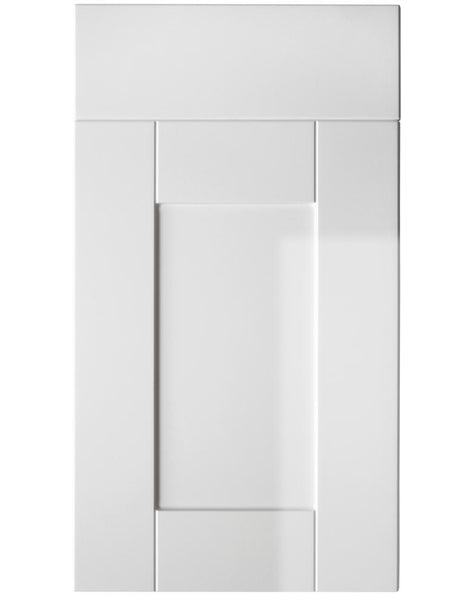 575mm High Double Wall Units Serrento White Gloss