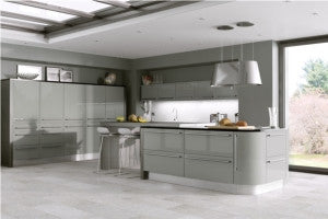 720mm High Double Wall Units Odyssey Stone Grey Gloss