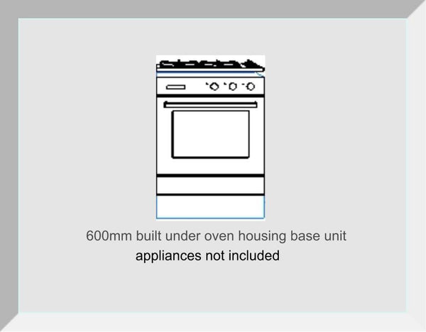 Built Under Oven / Microwave  Housing  Odyssey White Gloss