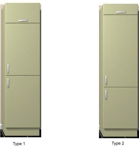 Fridge Freezer Housing Units 2150mm high Keld Cream Gloss
