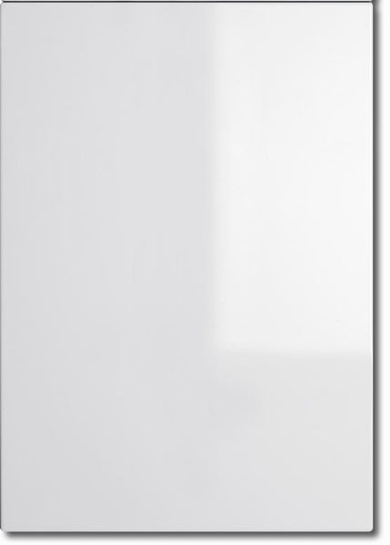 575mm High Single Corner Wall Units Lumi White Gloss