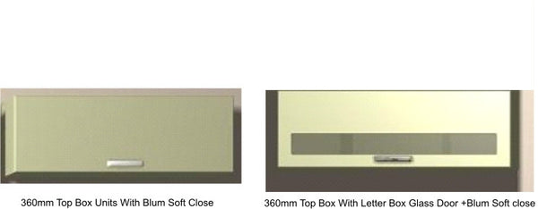 360mm High Top Box Wall Units Keld Cream Gloss