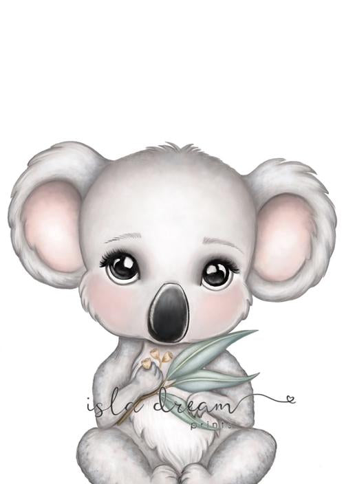Euca the koala print - Lottie and Moo Bowtique