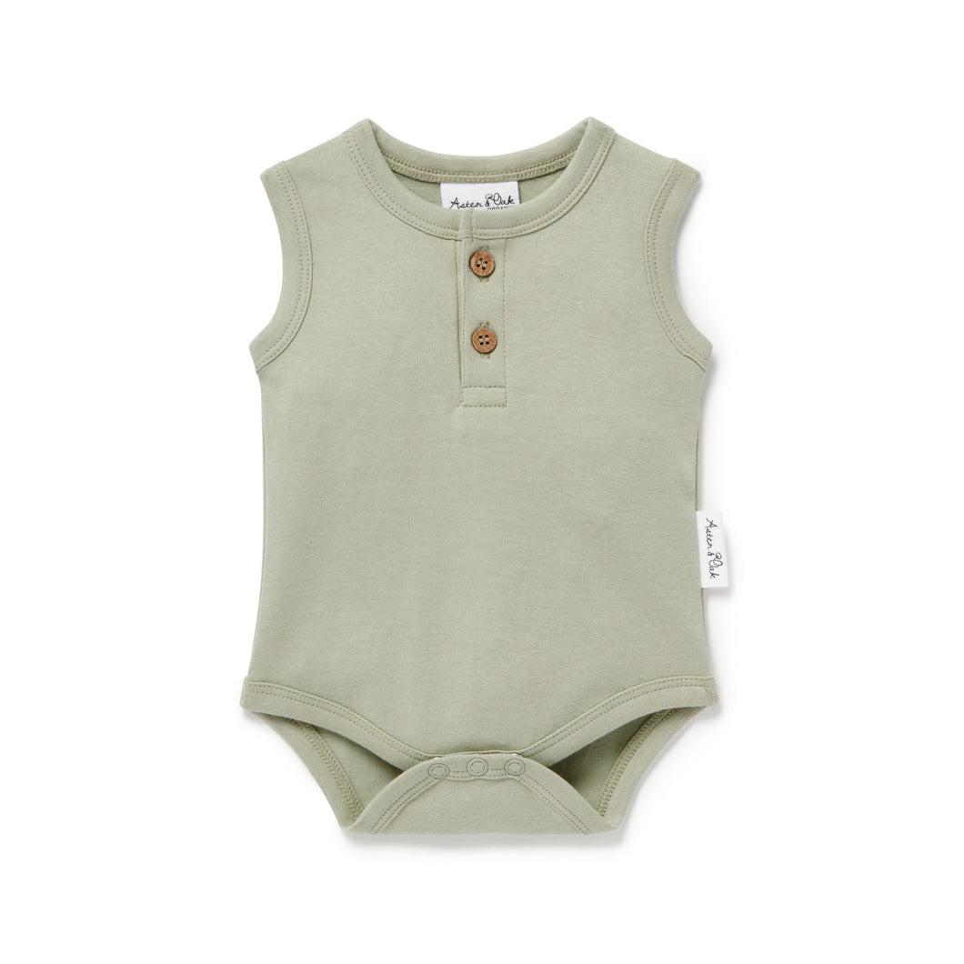 Sage Singlet Onesie - Lottie and Moo Bowtique