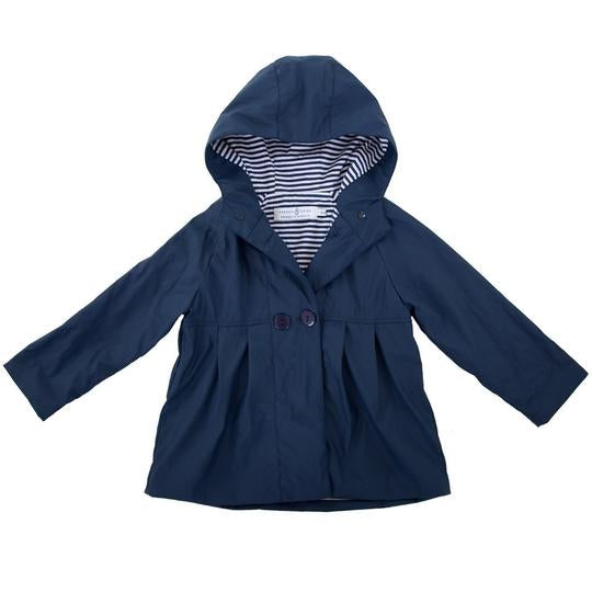 Raincoat - Girls Navy - Lottie and Moo Bowtique
