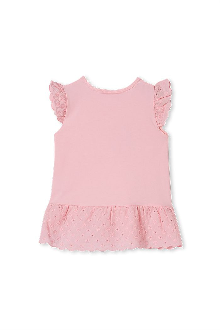 Candy Pink Broderie Frill - Lottie and Moo Bowtique