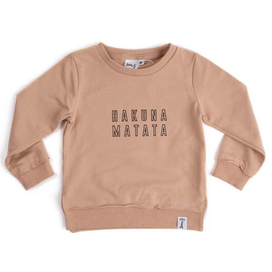 Hakuna Matata Pullover - Wheat - Lottie and Moo Bowtique