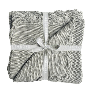 Mini Moss Baby Blanket - Grey - Lottie and Moo Bowtique