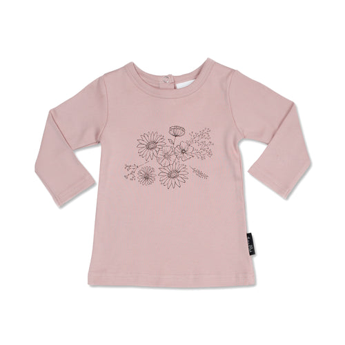 Floral Print LS Rose Tee - Lottie and Moo Bowtique